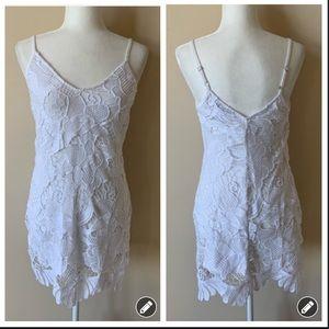 Express strappy crochet lace mini tank dress #1466